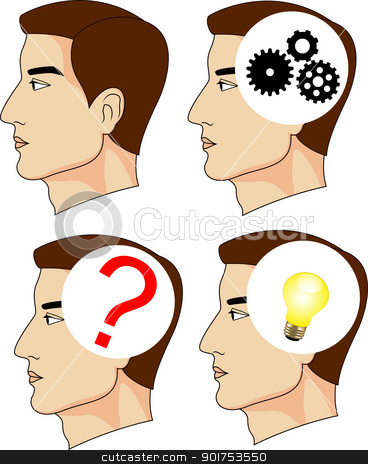 Human mind  stock vector clipart, Vector Illustration Of Human mind  by Surya Zaidan