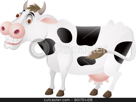 Cow cartoon  stock vector clipart, Vector Illustration Of Cow cartoon  by Surya Zaidan