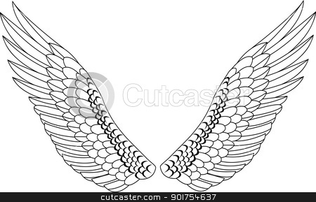 Wing  stock vector clipart, Vector Illustration Of Wing  by Surya Zaidan
