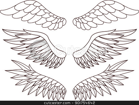 Wings  stock vector clipart, Vector Illustration Of Wings  by Surya Zaidan