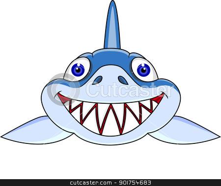 smiling shark cartoon stock vector rh cutcaster com Funny Shark Clip Art Friendly Shark Clip Art