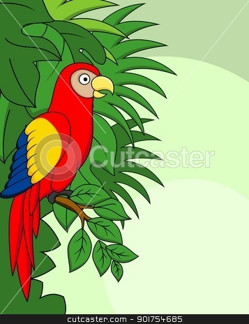 Macaw bird  stock vector clipart, Vector Illustration Of Macaw bird  by Surya Zaidan