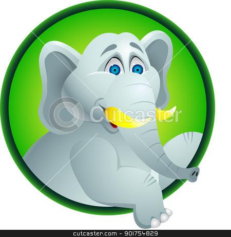 Elephant cartoon  stock vector clipart, Vector Illustration Of Elephant cartoon  by Surya Zaidan