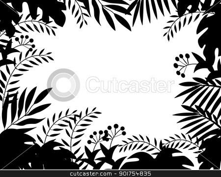 Jungle silhouette stock vector clipart, Vector Illustration Of Jungle silhouette by Surya Zaidan