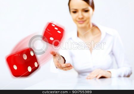 Flying dices as symbol of risk stock photo, Image of flying dices as symbol of risk and luck by Sergey Nivens