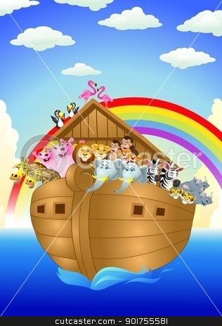Noah ark  stock vector clipart, Vector Illustration Of Noah ark  by Surya Zaidan