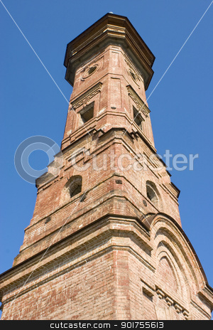Fire tower. stock photo, Old high brick tower. by Yury Ponomarev