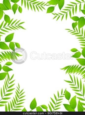 Floral frame background  stock vector clipart, Vector Illustration Of Floral frame background  by Surya Zaidan
