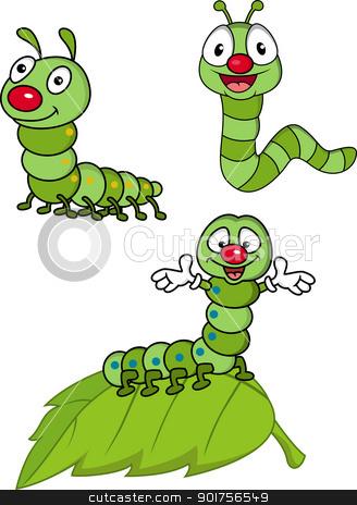 Larva cartoon Character  stock vector clipart, Vector Illustration Of Larva cartoon Character  by Surya Zaidan