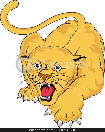 Angry cougar  stock vector clipart, Vector Illustration Of Angry cougar  by Surya Zaidan