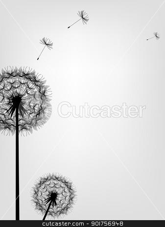 Dandelion background  stock vector clipart, Vector Illustration Of Dandelion background  by Surya Zaidan