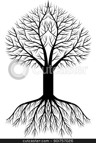 Tree silhouette background  stock vector clipart, Vector Illustration Of Tree silhouette background  by Surya Zaidan