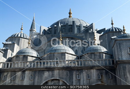 Blue Mosque. stock photo, The Blue Mosque Exterior in Istanbul Turkey. by szefei