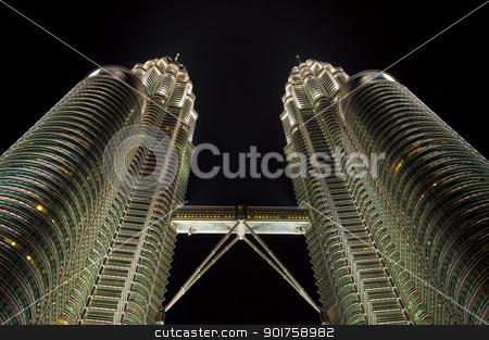 Kuala Lumpur landmark, Malaysia. stock photo, Night views of Landmark Petronas Twins Towers, Kuala Lumpur, Malaysia by szefei
