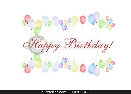 Happy Birthday stock photo, Happy birthday word combination with balloons by Diana