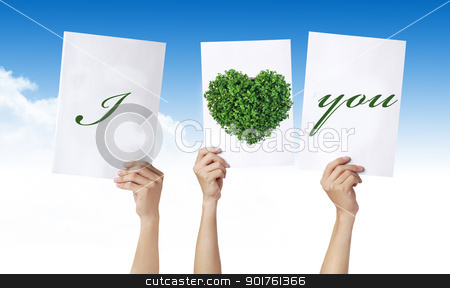 I love you stock photo, Hands and I love you by Diana