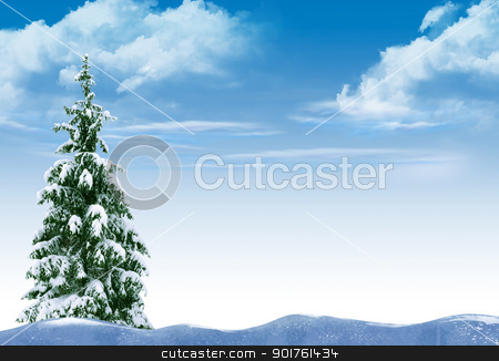 Winter stock photo, Beautiful winter with trees in the snow by Diana