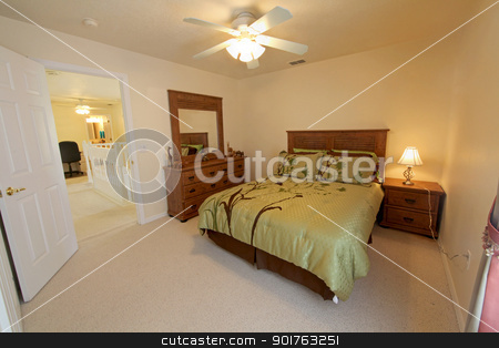 Queen Bedroom stock photo, Queen Bedroom, Interior Shot of a Home by Lucy Clark