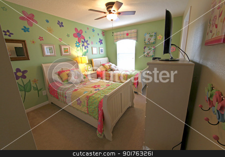 Twin Bedroom stock photo, Twin Bedroom, Interior Shot of a Home by Lucy Clark