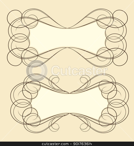 vintage frame stock vector clipart, vintage frame with place for text by Miroslava Hlavacova