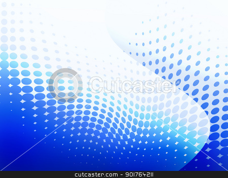 Blue dot background stock photo, Background with blue circles tone. by szefei