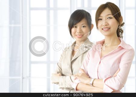 business women stock photo, Asian business women in office environment    by szefei