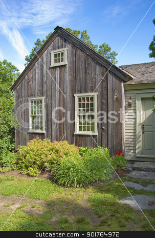 Country cottage stock photo, Country cottage for rent in the foothills of Vermont, USA by Christian Delbert