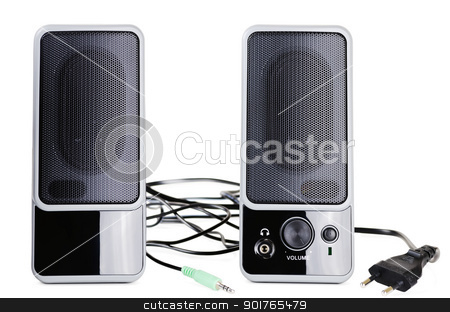 Acoustic system stock photo, An acoustic system over the white background by Sergej Razvodovskij