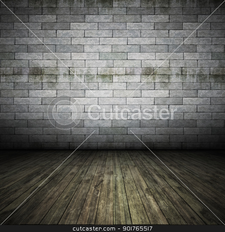 brick wall floor stock photo, An image of a nice brick wall floor for your content by Markus Gann
