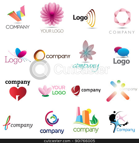 Corporate Design Elements stock vector clipart, A collection of corporate emblem designs for your business by HypnoCreative