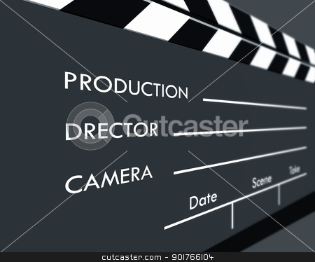 Clapboard stock photo, Color Film Clapboard,2D art by Janaka Dharmasena