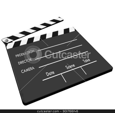Clapboard stock photo, Film Clapboard,2D art by Janaka Dharmasena
