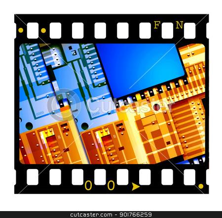 35mm Film frames stock photo, 35mm Film frames,2D art by Janaka Dharmasena