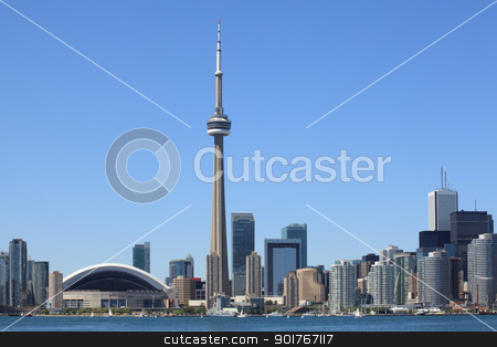 Toronto skyline stock photo, Photo of the Toronto skyline under a clear sky. by © Ron Sumners