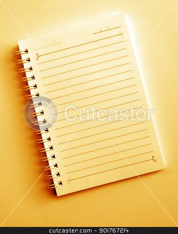 Spiral notepad stock photo, Close up of blank Spiral notepad by Janaka Dharmasena
