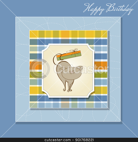 birthday card stock vector clipart, birthday card by balasoiu