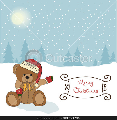 Christmas greeting card stock vector clipart, Christmas greeting card by balasoiu