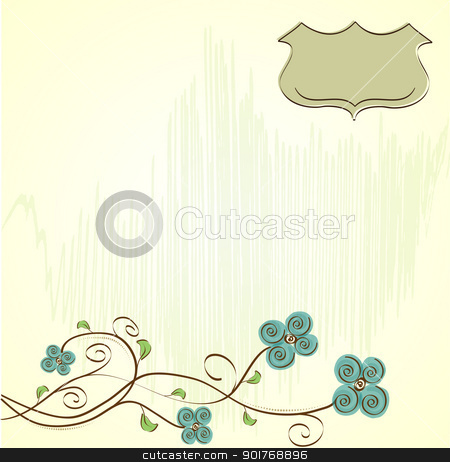 romantic floral background stock vector clipart, romantic floral background by balasoiu