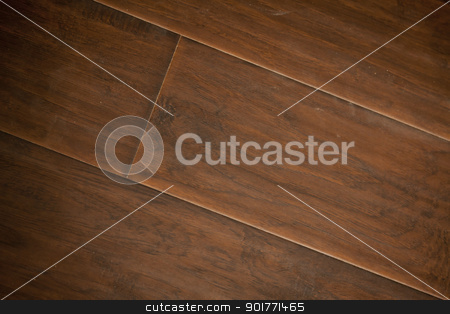 Newly Installed Brown Laminate Flooring stock photo, Newly Installed Brown Laminate Flooring Abstract. by Andy Dean