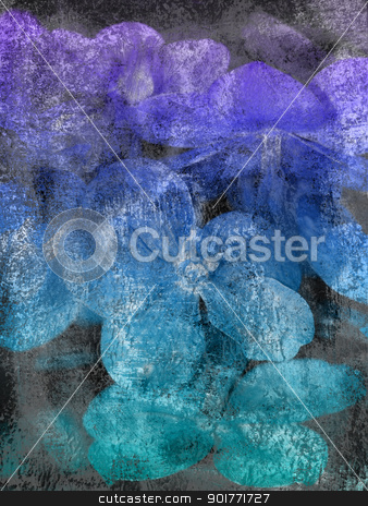 Orchid Background  stock photo, Background with orchid. Painted in blue colors.        by Vanessa GF