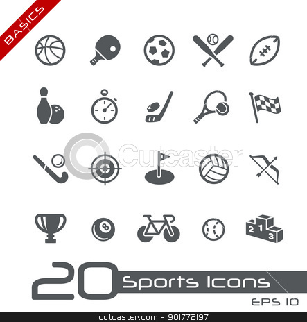 Sports Icons // Basics  stock vector clipart, Vector icons set for your web or presentation projects. by Diego Alies