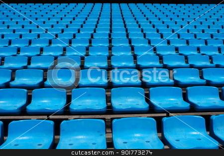 La Bombonera  stock photo, The seats in La Bombonera stadium, Buenos Aires by King Ho Yim