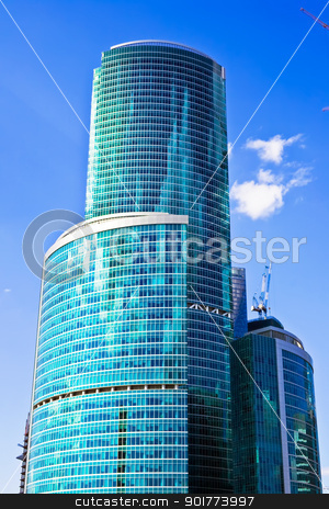 Business skyscrapers stock photo, New international skyscrapers business center in Moscow city, Russia by Alexey Popov