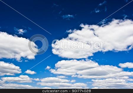 Sky and clouds stock photo, Blue cloudy sky by Alexey Popov