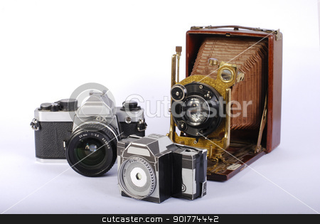 Old cameras stock photo, old camera by Sarka