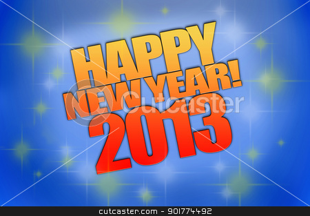 Happy New Year 2013 stock photo, Happy New Year 2013 background computer rendered by ruigsantos