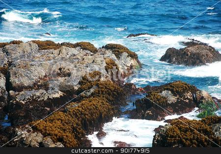 Rocky Oregon coast stock photo, Rocky Oregon coastline and surf by perlphoto