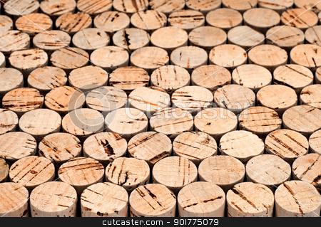 Wine cork background stock photo, Background pattern of wine bottles corks.Shallow DOF by borojoint