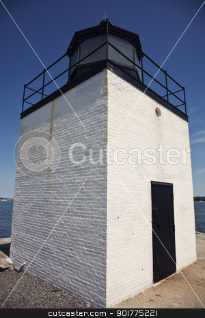 Derby Wharf Lighthouse stock photo, Derby Wharf Lighthouse in Salem, Massachusetts by Henryk Sadura