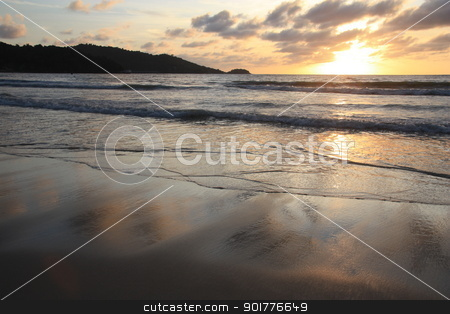Beautiful tropical sunset stock photo, Beautiful tropical sunset above the sea by Yulia Zhukova